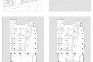 MEDAGLIA D'ORO: VINCENZO LATINA Padiglione di accesso agli scavi dell'Artemision di Siracusa, Siracusa, Italia, 2011 - montaggio scavi e planimetria generale con tempio