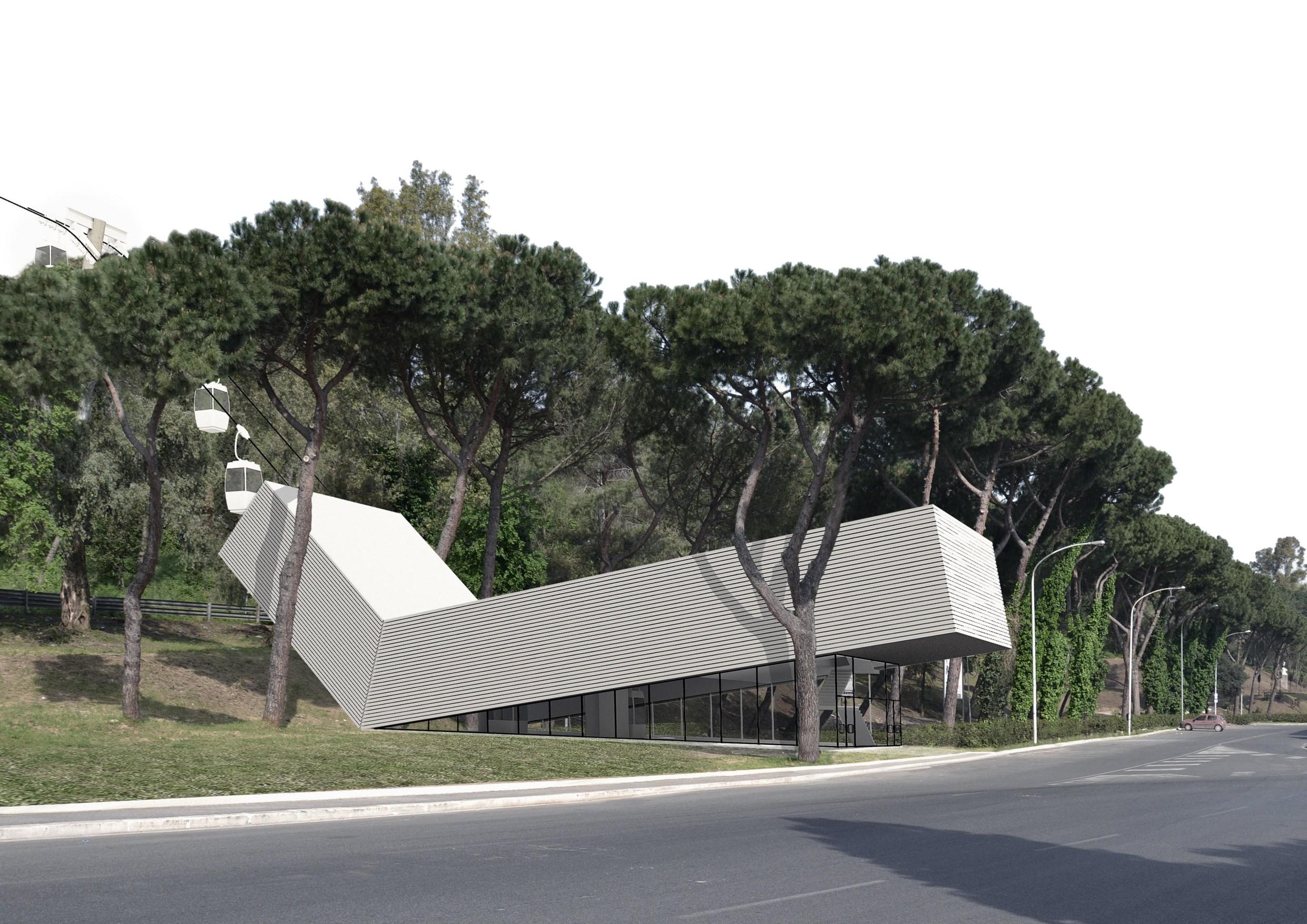 Una teleferica a roma progetto di francesco napolitano for Architettura e design roma