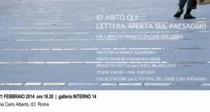 Interno 14 : IO ABITO QUI_Lettera aperta sul paesaggio di Franco Zagari