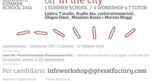 SELINUNTE SUMMER SCHOOL 2014 – Off in the City | Proroga iscrizioni