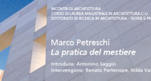 Marco Petreschi / La pratica del mestiere – 12 Maggio 2015 Aula Magna Valle Giulia Roma